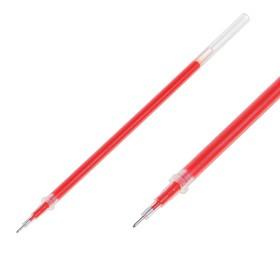 Стержень гелевый красный, 0.5 мм ,внутренний d-2.4 мм, L-128 мм игольчатый пишущий узел пластик/металл Ош