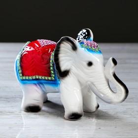 Статуэтка 'Слон' стразы, серый Ош