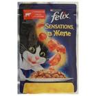 Влажный корм FELIX Sensations для кошек, говядина/томат в желе, пауч, 85 г