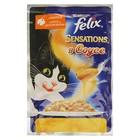Влажный корм FELIX Sensations для кошек, индейка/бекон в соусе, пауч, 85 г