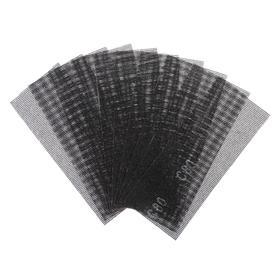 Сетка абразивная TUNDRA, водостойкая, корунд, 115 х 280 мм, Р80, 10 шт. Ош