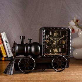 Часы настольные 'Старый поезд', 30х21 см Ош