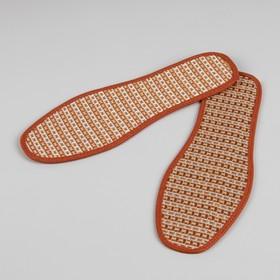 Стельки для обуви, окантовка, 36 р-р, пара, цвет коричневый Ош