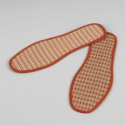 Стельки для обуви, окантовка, 36 р-р, пара, цвет коричневый