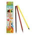 Карандаши пластиковые 6 цветов Centrum Giraffe, 177 мм, трёхгранные
