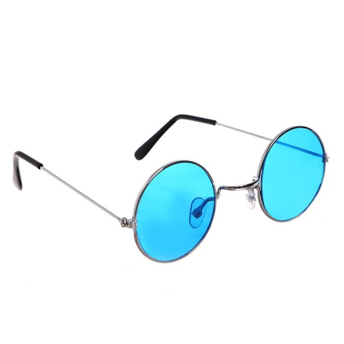 Карнавальные очки Круглые, цвета МИКС