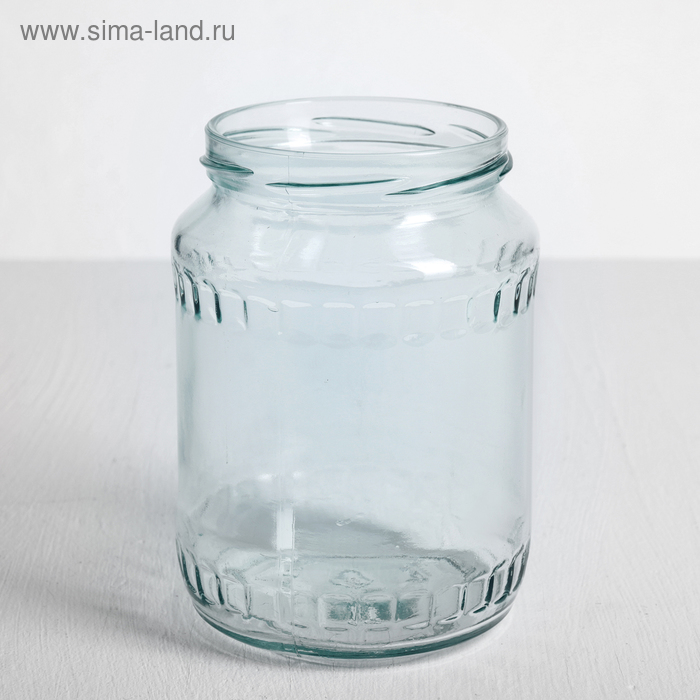 Банка стеклянная, 0,72 л, без крышки, ТО