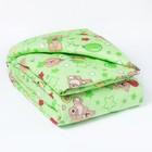 Одеяло, размер 110*140 см, цвет зелёный 623