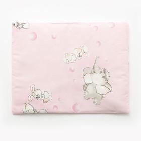 Подушка, размер 30*40 см, цвет розовый, набивка МИКС 214 Ош