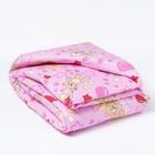 Одеяло, размер 110*140 см, цвет розовый, набивка МИКС 623