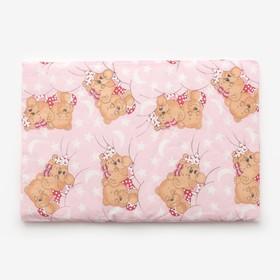 Подушка, размер 40*60 см, цвет розовый, набивка МИКС 224 Ош