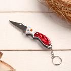 """Нож складной, брелок """"Акула"""" 11 см, микс, рукоять пластик"""