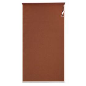 Штора рулонная 90х180 см, цвет коричневый Ош