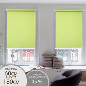 Штора рулонная 60×180 см (с учётом креплений 3,5 см), цвет зелёный Ош