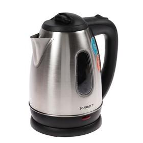 Чайник электрический Scarlett SC-EK21S20, 1.8 л, 1600 Вт, серебристый