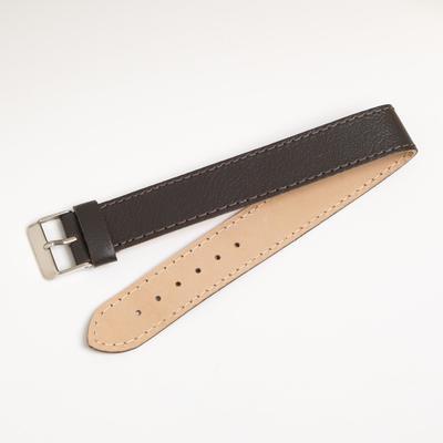 Ремешок для часов, мужской, 18 мм, натуральная кожа, коричневый - Фото 1