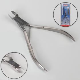 Кусачки маникюрные для кутикулы, одинарная пружина, 10 см, длина лезвия - 6 мм, цвет серебристый, КСС 1 M SS