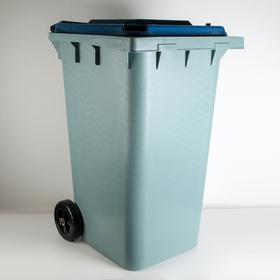 Контейнер универсальный на колёсах 240 л, цвет синий Ош