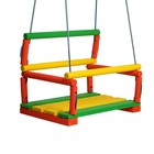 Качели детские подвесные, деревянные, сиденье 30×40см - Фото 2