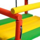 Качели детские подвесные, деревянные, сиденье 30×40см - Фото 3