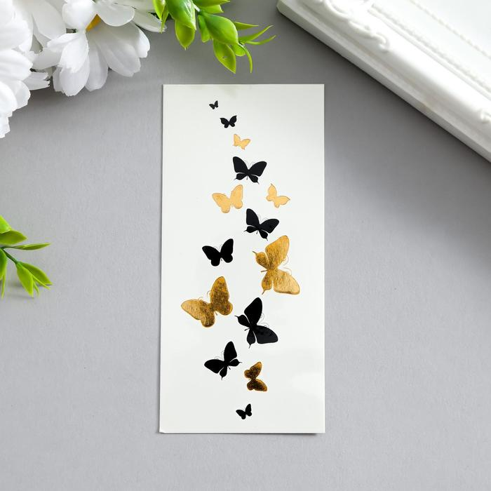 """Татуировка на тело """"Бабочки"""", браслет"""
