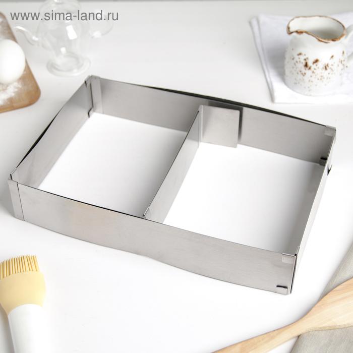 Форма разъёмная для выпечки кексов и тортов с регулировкой размера 15х25 - 27х48 см