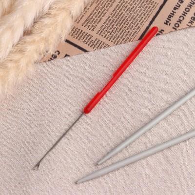 Игла для поднятия петель, 15 см, цвет красный - Фото 1