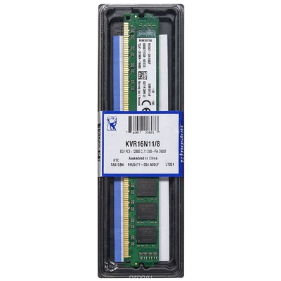 Память DDR3 8Gb 1600MHz Kingston KVR16N11/8 RTL PC3-12800 CL11