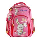 Рюкзак школьный Prof Press, 38 х 28 х 13, для девочки «Зайчонок с ромашкой»