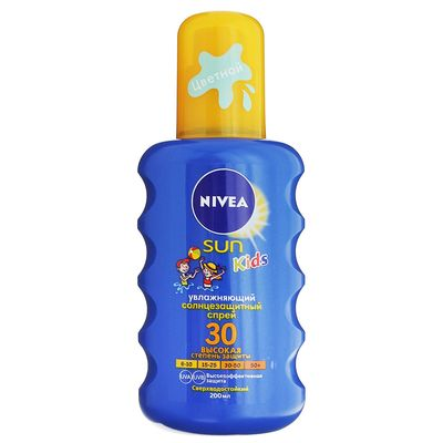 Детский солнцезащитный спрей Nivea SUN «Играй и купайся», SPF 30, 200 мл
