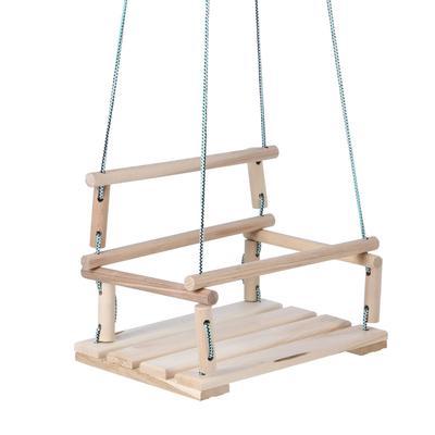 Качели детские подвесные, деревянные, сиденье 30×40см - Фото 1