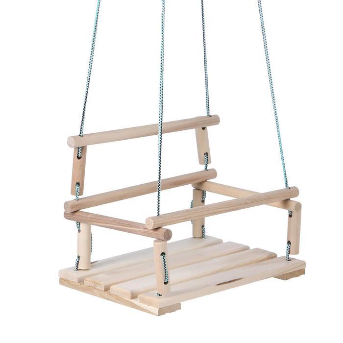 Качели детские подвесные, деревянные, сиденье 3040см