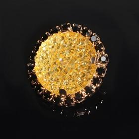 Пуговица декоративная, d = 30 мм, цвет золотой/чёрный