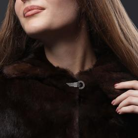 Декоративная застёжка «Круг», d = 3,5 см, цвет серебряный