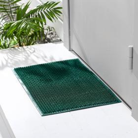 Покрытие ковровое щетинистое «Травка», 39×59 см, цвет тёмно-зелёный Ош