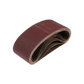 Лента абразивная бесконечная TUNDRA, на тканевой основе, 75 х 457 мм, Р120, 10 шт. Ош