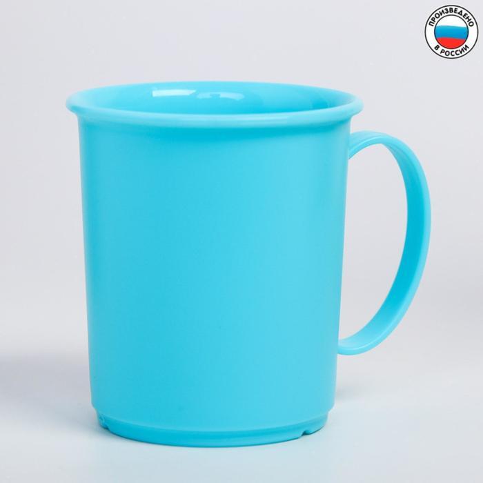Кружка 180 мл, детская, пластиковая, цвет голубой