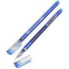 Ручка гелевая, 0.38 мм, синяя, корпус синий, бесстержневая, игольчатый пишущий узел