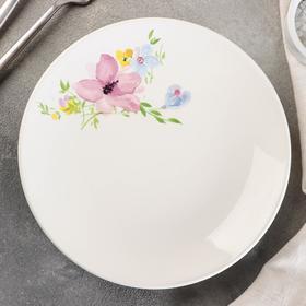 Тарелка мелкая «Фрезия», d=19 см