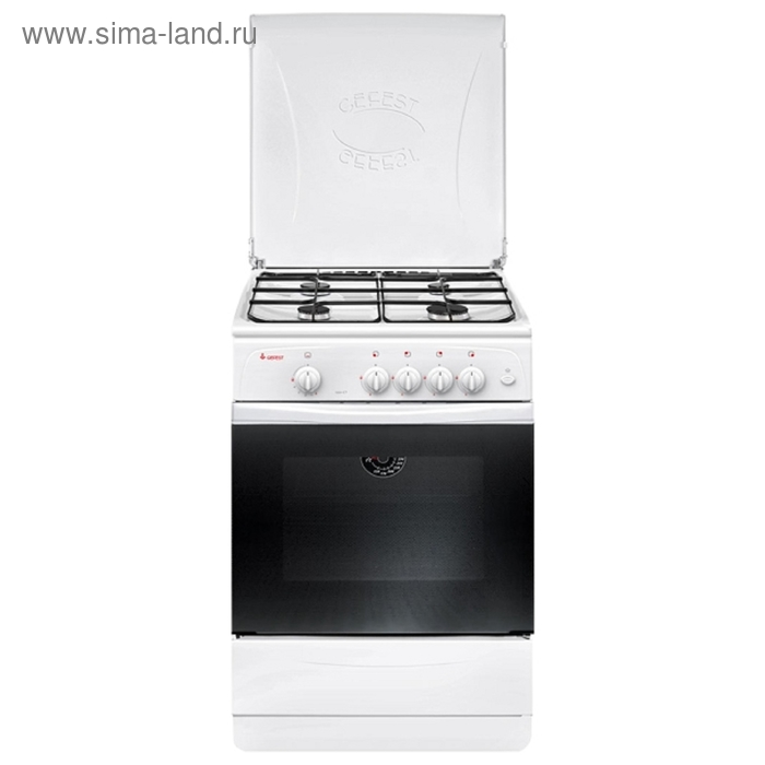 Плита газовая Gefest 1200-С7, 4 конфорки, 63 л, газовая духовка, белая