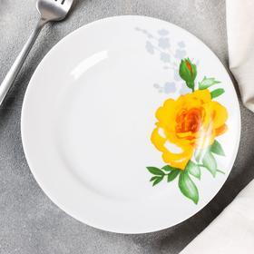 Тарелка мелкая «Роза», d=17,5 см