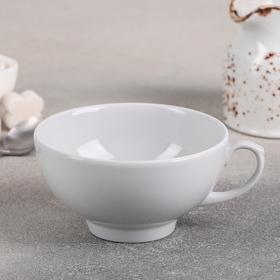 Чашка чайная Дулевский фарфор «Рубин», 220 мл, цвет белый