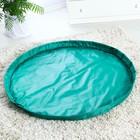 Развивающий коврик - сумка для игрушек «Зеленый», d150