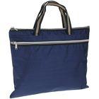 Портфель 1 отделение, формат А4, текстильный, на молнии, с ручками, с карманом, синий
