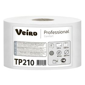 Туалетная бумага для диспенсера Veiro Professional с ЦВ Comfort TP 210, 215 метров (1000 листов)