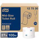 Туалетная бумага для диспенсера для диспенсера Tork Mid-size в миди рулонах (T6), 100 метров