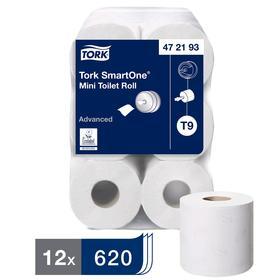 Туалетная бумага для диспенсера Tork SmartOne в мини рулонах (T9) 620 листов