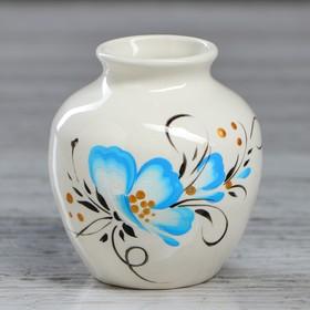 """Ваза настольная """"Сосудик"""" белая, 8 см, микс, керамика"""