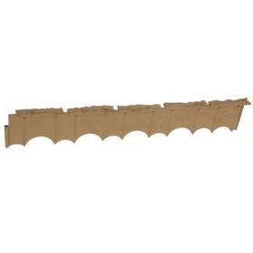 Бордюр «Камешки», 75 × 13 × 2 см, песочный Ош