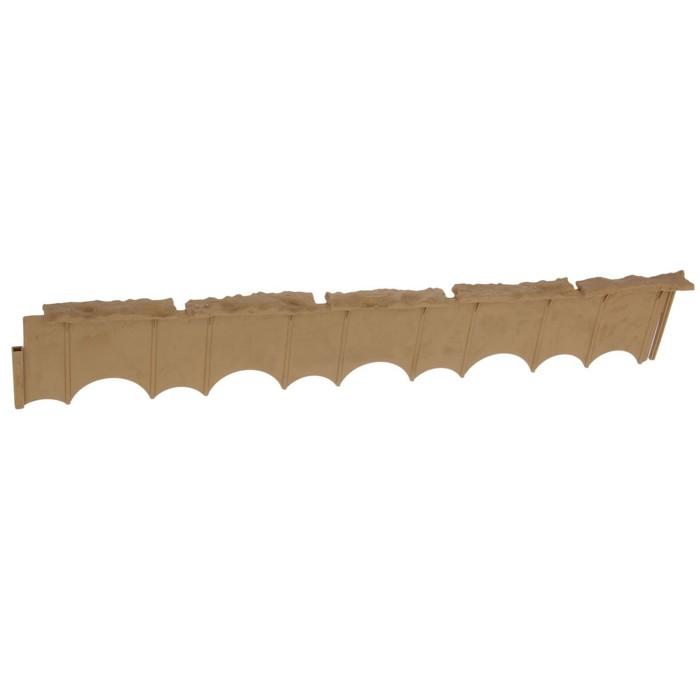 Бордюр «Камешки», 75 × 13 × 2 см, песочный